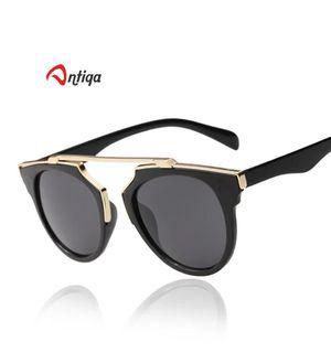 Antiqa Stylish Sunglasses Black Fancy Metal Frame Goggles For Unisex (AQ_SG_1027)