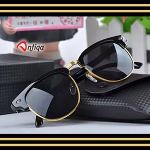 Antiqa Stylish Sunglasses Black Clubmaster Goggles For Unisex (AQ_SG_1004)