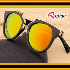 Antiqa Stylish Sunglasses Golden Mercury Fancy Goggles For Unisex (Antiqa_SG_GLD_1003)