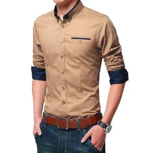 Sandy brown casual shirt for men's