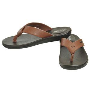Ajanta Men s Classy Sandal Slipper - Black Tan