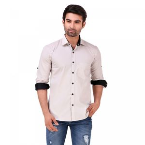 Matram Men's Casual Grey shirt