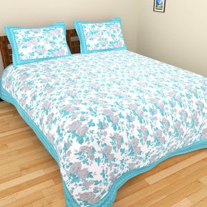Priyansh Double bedsheets with two pillow cover in floral PR-329