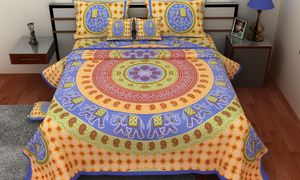 Priyansh Double bedsheets with two pillow cover in animal print PR-326