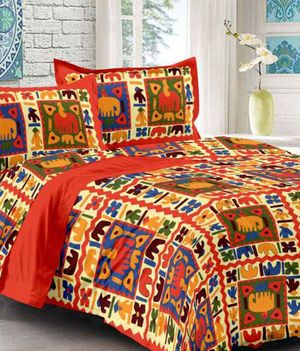 Priyansh Double bedsheets with two pillow cover in animal print PR-318