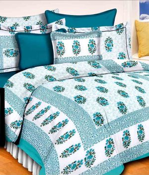 Priyansh Double bedsheets with two pillow cover in floral PR-316