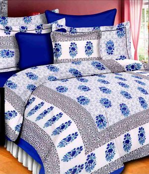 Priyansh Double bedsheets with two pillow cover in floral PR-315