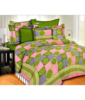 Priyansh Double bedsheets with two pillow cover in printed PR-313