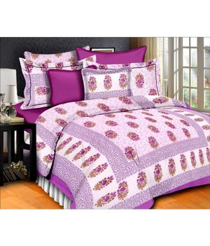 Priyansh Double bedsheets with two pillow cover in floral PR-312