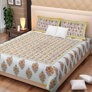 Priyansh Double bedsheets with two pillow cover in floral PR-310