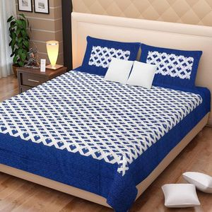 Priyansh Double bedsheets with two pillow cover in printed PR-307