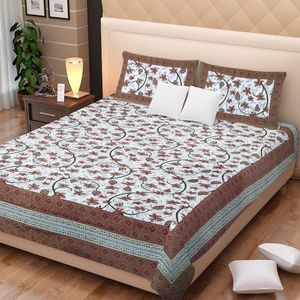 Priyansh Double bedsheets with two pillow cover in floral PR-306