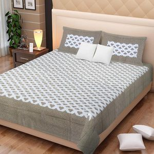 Priyansh Double bedsheets with two pillow cover in printed PR-304