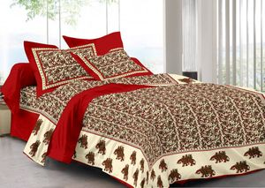 Priyansh Double bedsheets with two pillow cover in animal print PR-303
