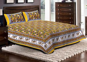 Priyansh Double bedsheets with two pillow cover in animal print PR-300