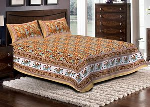 Priyansh Double bedsheets with two pillow cover in animal print PR-299