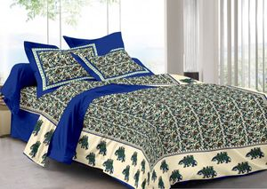 Priyansh Double bedsheets with two pillow cover in animal print PR-298