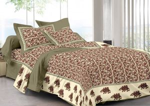 Priyansh Double bedsheets with two pillow cover in animal print PR-297