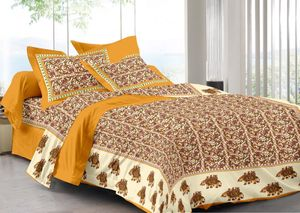 Priyansh Double bedsheets with two pillow cover in animal print PR-296