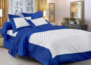 Priyansh Double bedsheets with two pillow cover in printed PR-295