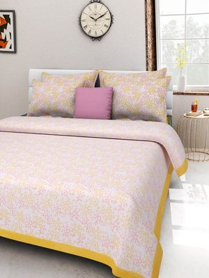 Priyansh Double bedsheets with two pillow cover in printed PR-294
