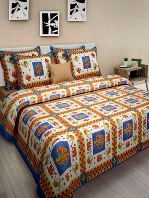 Priyansh Double bedsheets with two pillow cover in animal print PR-291