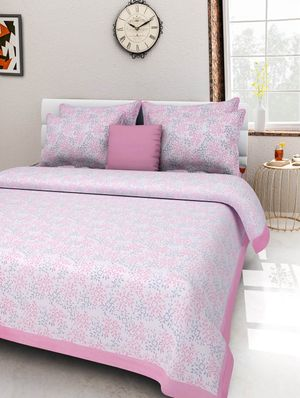 Priyansh Double bedsheets with two pillow cover in floral PR-286