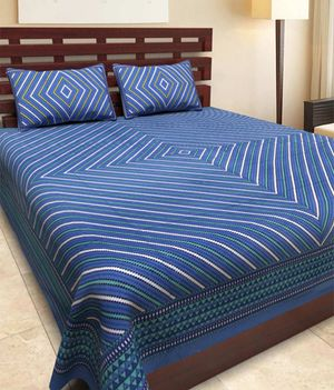 Priyansh Double bedsheets with two pillow cover in printed PR-283