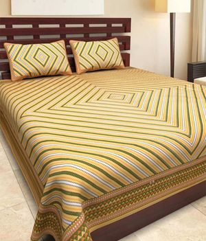 Priyansh Double bedsheets with two pillow cover in printed PR-281