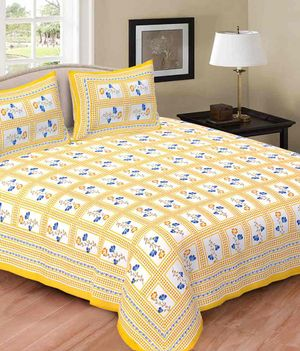 Priyansh Double bedsheets with two pillow cover in floral PR-278