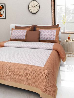 Priyansh Double bedsheets with two pillow cover in printed PR-271
