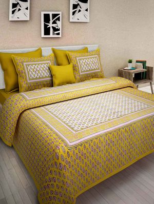 Priyansh Double bedsheets with two pillow cover in printed PR-207