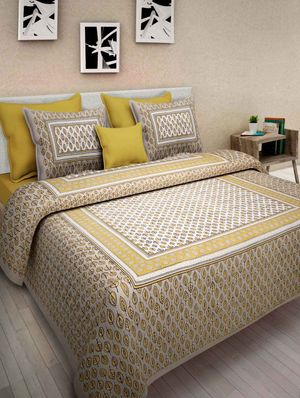 Priyansh Double bedsheets with two pillow cover in floral PR-208