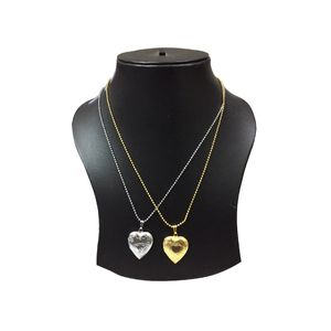 Combo Offer Heart Shaped Locket Photo Pendant Necklace Chain SILVER+GOLD Plated