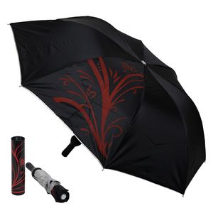 Sultaan Wine Bottle Shapes 3 Fold Manual Sunny Rainy Umbrella