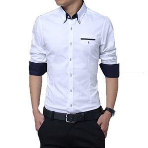 New Fancy White Pure Cotton Men Formal Shirt