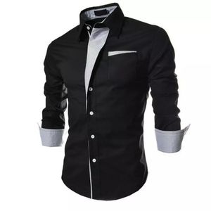 New Fancy Black Pure Cotton Men Shirt