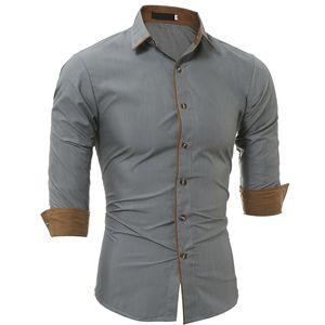 New Fancy Grey Pure Cotton Men Formal Shirt