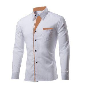 New  Fancy   White   Cotton  Men   Shirt