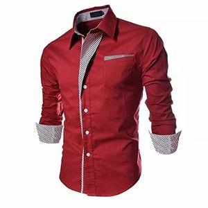 New Fancy Red Party Wear Pure Cotton Men Shirt