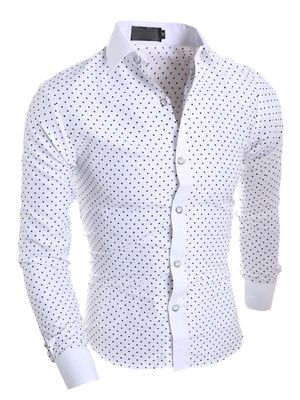 New Fancy White Cotton Formal Men Shirt
