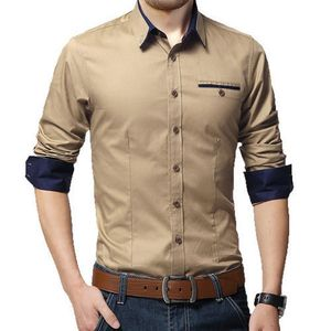 New Fancy Wood Polyester Formal Men Shirt