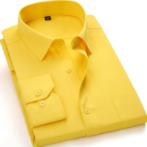 Yellow cotton Casual Shirts For men