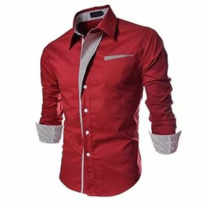 New red color pure cotton shirts for men
