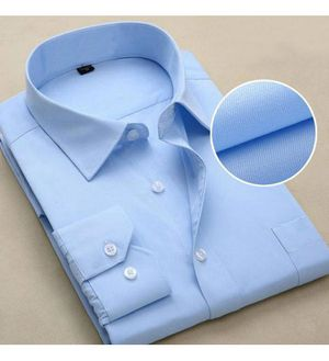 Aagam SkyBlue Cotton Blend Casual Shirt For Men
