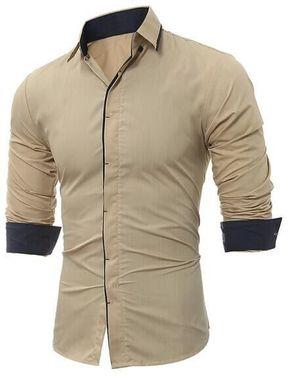 New Fancy Pure Cotton Wood Men Formal Shirt