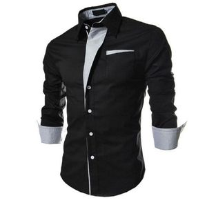 New Fancy Black Pure Cotton Men Formal Shirt
