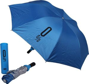 Tradeaiza® Three Fold Travel Wine Bottle Umbrella(UV PROOF WINDPROOF)- Blue Umbrella