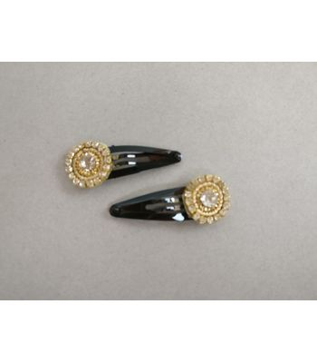 Pair of snap clips - goldsilver