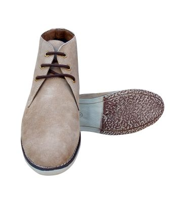 3 WOLVES Suede Leather Tan Chukka Boots